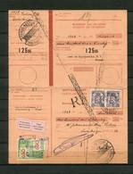 1947 Ontvangkaart RP Carte Récépissé - Kaart Met Stempel TERUG - RETOUR  - ONBETAALD - IMPAYE Van Leen En Hypotheekkas - Cartas