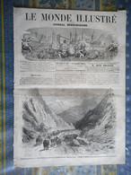 LE MONDE ILLUSTRE 14/09/1867 ESPAGNE CATALOGNE BILLANCOURT AMIENS ROUBAIX CORSE INCENDIE VERO BORGOGHANE MONT CENIS CHAL - 1850 - 1899