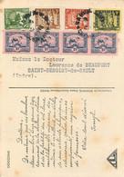 INDOCHINE - De SAIGON Vers FRANCE - AFFRANCHISSEMENT Par HUIT TIMBRES - Sur Cpa BAMBOUSERAIE - Briefe U. Dokumente