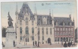 Brugge - Provinciehuis En De Post (gekleurde En Gelopen Kaart Met Zegels) - Brugge
