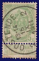 """COB N° 83  Année 1907- """"ARMOIRIES"""" De 1893 - Belle Oblitération """"OSTENDE 2"""" - Sonstige"""