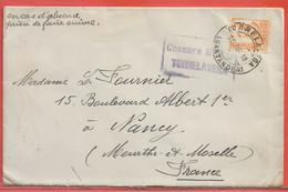 ESPAGNE LETTRE CENSUREE DE 1938 DE TORRELAVEGA POUR NANCY FRANCE - 1931-50 Briefe U. Dokumente