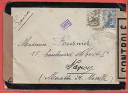 ESPAGNE LETTRE CENSUREE DE 1945 DE TORRELAVEGA POUR NANCY FRANCE - 1931-50 Briefe U. Dokumente