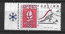 FRANCE    -   1991 .  Y&T N° 2680a Oblitéré . JO D'Albertville /  Curling - Oblitérés