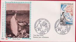 """FDC """"Editions  PAC """" # FRANCE-1972 # (N°Yvert 1704 ) Polaire -Iles Crozet Et Kerguelen ,Pinguins # Obl. Ill. Paris - 1970-1979"""