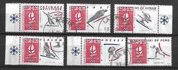 FRANCE    -   1992 .  Y&T N° 2737 à 2742 Oblitérés .  JO D'Albertville .   Série Complète. - Oblitérés