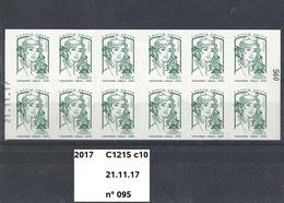 Variété Carnet Adhésifs De 2017 Neuf** Y&T N° C1215 C10 Daté 21.11.17 N° 095 - Usage Courant