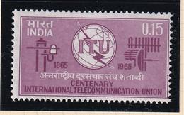India: 1965   I.T.U. Centenary   MH - Ungebraucht