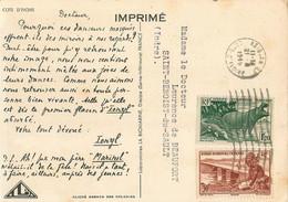 COTE D'IVOIRE - De ABIDJAN Vers FRANCE - 1949 - AFFRANCHISSEMENT Par DEUX TIMBRES - Sur CPA ETHNIQUE - Lettres & Documents
