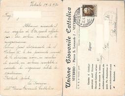 Unione Giovanile Cattolica. Viterbo. Viaggiata 1930 - Sin Clasificación