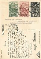 CONGO FRANCAIS - De BRAZAVILLE Vers FRANCE - 1950 - AFFRANCHISSEMENT Par TROIS TIMBRES - Sur CPA ETHNIQUE - Briefe U. Dokumente