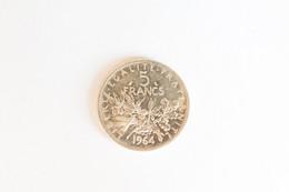 5 Francs Argent   1964 - J. 5 Francs