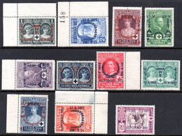 107.SPAIN.1927 CORONATION.Y.T.300-309,328.SC.B19-B28,B54.SHORT SET,MNH. - Non Classés