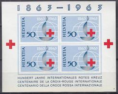 SCHWEIZ Block 19, Postfrisch **, 100 Jahre Rotes Kreuz 1963 - Blocks & Kleinbögen