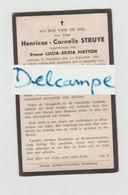 DOODSPRENTJE STRUYE HENRICUS WEDUWNAAR MATTON LUCIA POPERINGE 1861 - 1941 - Devotion Images
