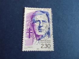 """1990-99 - Oblitéré N°  2634    """"   De Gaulle       """"  """"   Limours 1990  """"         Net   0.60 - Oblitérés"""