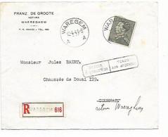 LE 1274. N° 530 Càd WAREGEM / A  12.4.41 S/L. RECOMMANDEE Vers Tournai. RETOUR à Waregem. TB - 1936-51 Poortman