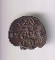 2 Deniers Lituanie 1566 Sigismond II Auguste - Lithuania