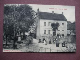 CPA 21 FROLOIS La Mairie ANIMEE  Avec MARIAGE Sortie De La Mariée 1916 Canton MONTBARD - Andere Gemeenten
