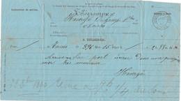 1890 / Télégramme Cachet Orchamps-Vennes / 25 Doubs / Exp Tunis (Tunisie) / Soldat Bien Arrivé Malgré Mer Très Mauvaise - Télégraphes Et Téléphones