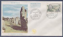 Enveloppe 1er Jour, Les Alignements De Menhirs Carnac 10 Juillet 1965  N°1440 - 1960-1969