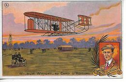 Aviation WILBUR WRIGHT Au Camp D'AUVOURS Publicité Chicorée Du Docteur LERVILLES BOUCHAIN CAMBRAI   ........G - ....-1914: Précurseurs
