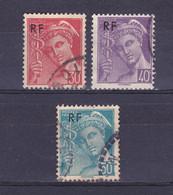 TIMBRE FRANCE 658 à 660 OBLITERE - 1938-42 Mercurio