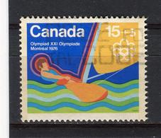 CANADA - Y&T N° 558° - Jeux Olympiques De Montréal - Voile - Oblitérés