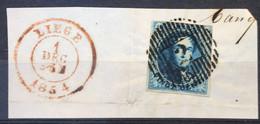 OBP 7 Medaillon 20c - D2 AMAY Met Datumstempel LIEGE - 1851-1857 Medaillen (6/8)