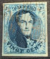 "OBP 7 Medaillon 20c - Afgestempeld ""rouillée"" - 1851-1857 Medaillen (6/8)"