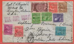 ETATS UNIS LETTRE DE 1948 DE RECATUR POUR HAIPHONG TONKIN - Briefe U. Dokumente