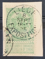 OBP 56 - Afstempeling LIEGE EXPOSITIONS 8 SEPT 1905 (obl. Tardive) - 1893-1907 Wappen
