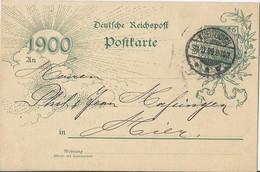 Entier Postal Allemagne - 1900 - Cartas