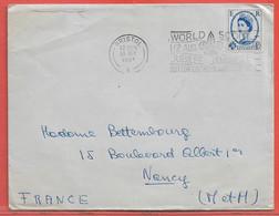 GRANDE BRETAGNE LETTRE OBLITERATION SCOUT DE 1957 DE BRISTOL POUR NANCY FRANCE - Covers & Documents