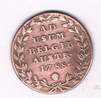 2 LIARDS 1788 OOSTENRIJKSE NEDERLANDEN (austria Belgii) BELGIE /1898/ - ...-1831