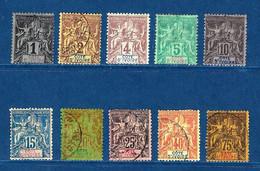 """Cote Ivoire YT 1...12 """" 7Tp """" 1892-1899 Voir Détail - Non Classés"""
