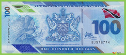 Voyo TRINIDAD & TOBAGO 100 Dollars 2019 PNEW B241a BJ UNC Polimer - Trinidad & Tobago