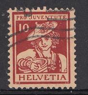 Suisse, Pro Juventute, Vaudoise, N° J 6, Timbre Oblitéré, 1916 - Gebruikt