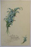 Geburtstag, Blumen Prägekarte Vergißmeinnicht, Elmshorn 1916 (27148) - Unclassified
