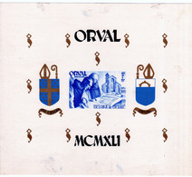 Sheet - Orval UMM Imperf (minor Marks On The Reverse, Front Unaffected) - Cartas