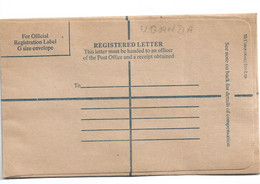 Uganda009 / Einschreibe-Kuvert 8ungebraucht) - Autres - Afrique