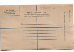 Uganda009 / Einschreibe-Kuvert (ungebraucht) - Kenya & Uganda
