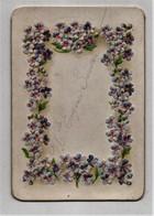 Menu Gaufré 1904 Chromo Fleurs Laumonier Pithiviers Imp. Desmolins - Menus