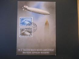 Deutsches Reich 1930- Zeppelin Luftschiff Postkarte Der Südamerika-Fahrt Mit Fälschung Der Mi. 438 Und 439 - Lettres & Documents
