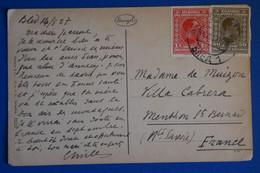 L18 YOUGOSLAVIE BELLE CARTE 1927  POUR MENTHON  FRANCE + BLED GRAD+AFFRANCH PLAISANT - Briefe U. Dokumente