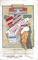 PROGRAMME THEATRE DU CASINO DES FLEURS VICHY SAISON 1927 LE COEUR EBLOUI AVEC SON BILLET D'ENTRÉE TIMBRÉ - Programma's