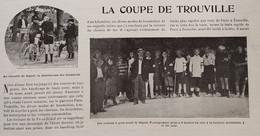 1899 LA COUPE DE TROUVILLE - COURSE À PIED - VOITURES - CHEVAUX - MOTOCYCLES - CYCLISTES - Magazines - Before 1900