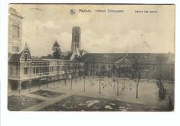 Mechelen  Malines  Institut Scheppers   Galerie Des Pianos  1918 Deutsches Reich Stempel - Malines