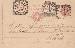 Pescia (Lucca) Tondo-riquadrato Del 1896 - Poststempel