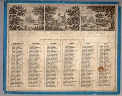 CALENDRIER GF 1852 - Pont De Neuilly, Château De Gros Bois, Pont St Maur, Guigne Sur Marne, Melun, Nogent Sur Marne - Big : ...-1900